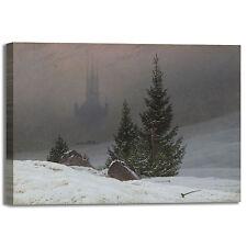 Caspar paesaggio invernale design quadro stampa tela dipinto telaio arredo casa