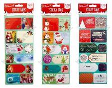 TAG Regalo di Natale 120 ADESIVI ETICHETTE ADESIVE cartoni animati Saluti tradizionale