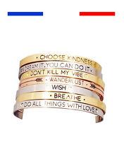 Bracelet Bijou Jonc Femme Love Lover Or Argent Rose Tendance Amour Wanderlust