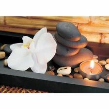 Fototapete Kerze Orchidee Relax Wellness. Romantik Bad Orange Bambus no. 279