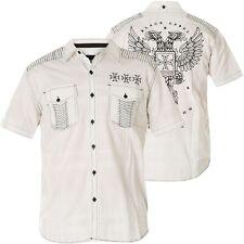 AFFLICTION Hemd Resolution Weiß Hemden