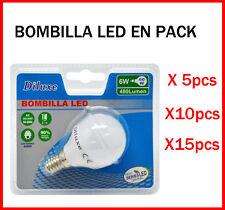 BOMBILLA LED 6W CASQUILLO PEQUEÑO E14 LUZ BLANCA 6400K PACK DE AHOORO DESDE 5 UD