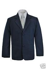New Boys Toddler Formal Wedding Party  Church Navy Blazer Style Jacket Coat S-7