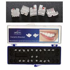 Dental Orthodontic Ceramic Brackets Poly-Crystalline Brace Roth MBT Slot 022 018