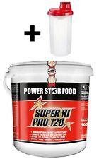 (15,98 Euro/Kg) Powerstar Food Super Hi Pro 128 Eiweiß, 5Kg 5000g + Shaker