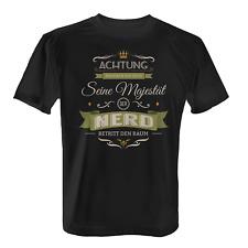 Majestät Nerd Herren T-Shirt Spruch Experte Fan Hobby Freizeit Geschenk Idee Neu