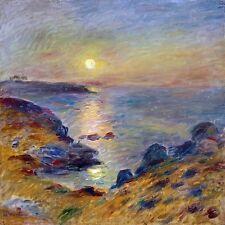 Seascape sunset sea beach by Renoir Tile Mural Kitchen Backsplash Marble Ceramic