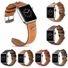 44/40/42/38mm Vintage Rivet Band for Apple Watch Series 5 4 3 2 1 Strap Bracelet
