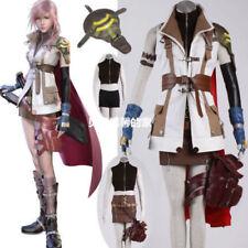 Final Fantasy XIII 13 Cosplay Costumes Lightning Eclair Farron Custom-madeDress