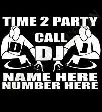 DJ T-SHIRT personalizar con nombre y número Radio Móvil anunciate RAVE DISCO
