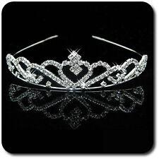 Luxus Tiara Diadem Haarreif Kristall Strass Kranz Krone Hochzeit Kommunion