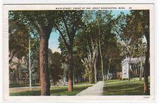 Main Street Great Barrington Massachusetts 1928 postcard