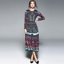 Elegante vestito abito lungo donna nero colorato scampanato slim morbido  4146 795a77baee9
