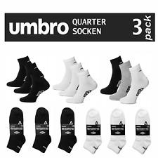 UMBRO Quarter Socken Sneaker Füßlinge Kurzsocken, 3, 6, 9, 12, 15 Paar BAUMWOLLE