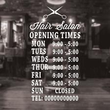 Signo de peluquería horas de apertura, Personalizado peluqueros horarios de apertura Signo Signo De Salón