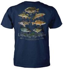 Live To Fish - Fish To Live - Fishing T-Shirt -Fisherman Bass Trout Hunting Gam