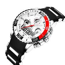 746| Élégant-montre-Homme-Cadran Noir-Or-Inox-Acier-Date-Quartz-Montre-Numérique