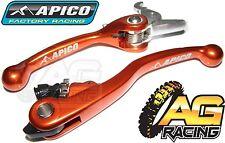 Apico Flexi Lever Set Orange Clutch Lever Brake Lever For KTM SX 150 2009-2012