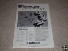Shure Type IV Cartridge Ad,M97 Era IV,specs,article