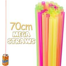 40, 80, 120 ou 200 extra long jumbo méga Multicolore buvable pailles de fête