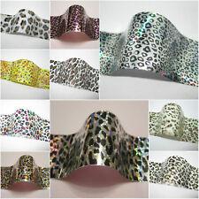 3D x LEOPARD TIGER SNAKE ZEBRA Holographic Nail Art Foil Sticker Manicure UK