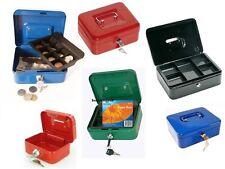 STEEL PETTY CASH MONEY BANK METAL BOX TIN SAFE SECURITY 2 KEYS LOCK WITH TRAY