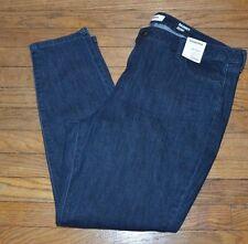 Sonoma Stretch Jeans Skinny Leg Denim Jean Dark Blue Rinse Wash