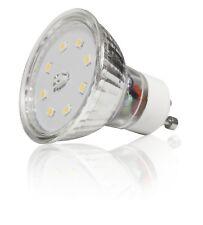 10 Stück - Glas SMD LED Leuchtmittel 5Watt - 230Volt - Gu10 Sockel - Schutzglas