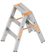 Layher Topic Aluminium Stufenstehleiter beidseitig 1043 Stehleiter Combigrip
