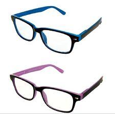 Gafas de Lectura Bifocal Protección Uv Lentes Azul, Púrpura y Negro Bisagras de muelle