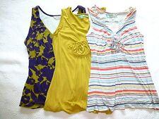 BODEN Yellow & Striped ROSETTE Sleeveless KNIT TOP Blouse Shirt US 6 8 10
