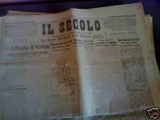 Il Secolo 23/03/1916 Austriaci a Valle Daine e  Cresta