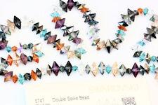 Véritable cristal swarovski 5747 double SPIKE Bead * toutes les tailles et couleurs