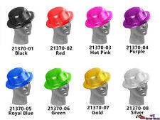 Glitter Bowler Hat Adult Hat Fancy Party Costume Dress Party Sparkle Bulk 21370