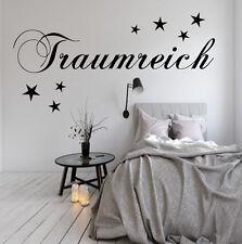 TRAUMREICH WANDTATTOO SCHLAFZIMMER WANDSTICKER TRAUM Wandaufkleber Sterne Spruch
