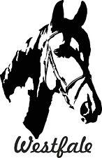 Auto Aufkleber WESTFALE  auch für Pferdeanhänger. Verschiedene Farben und Gr.