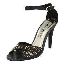 Anne Michelle l3r391 da donna nero tacco alto sandalo con cinturino alla