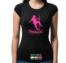'Merica Fat Man Pole Dancer Left Funny Sexy  T Shirt Tank Top