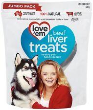 Love 'Em Beef Liver Treats for Dogs / Puppy Training Jumbo Size & BULK