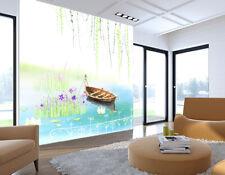 3D Barca Lago 423 Parete Murale Foto Carta da parati immagine sfondo muro stampa