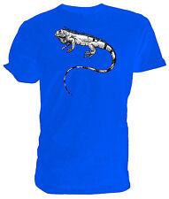 Iguana Lagarto T Shirt, Selección de tamaño y colores, negro y blanco dibujo de línea