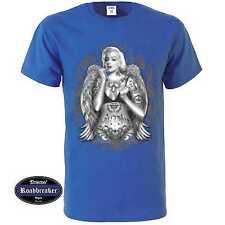 T Shirt royalblau Gothik Tattoo Greaser&Rockebillymotiv Modell Marylin Monroe Ta