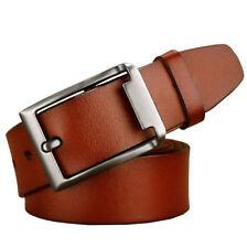 "Big size Top quality Mens Belt 100% Genuine Leather Belt Waist 30""-59"" 3 colors"