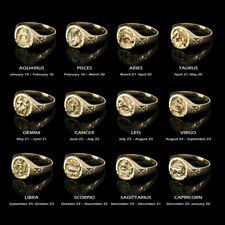 10K Yellow Gold Zodiac Sign Ladies Ring
