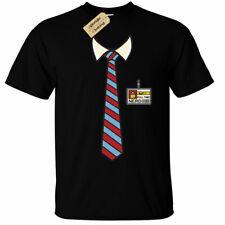 Full Time Nerd T-Shirt Mens funny tie collar geek uniform gift computers it