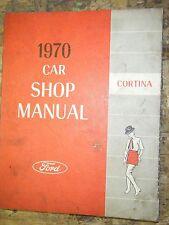 1970 FORD CORTINA DE LUXE GT ORIGINAL FACTORY SHOP MANUAL SERVICE REPAIR