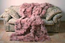 Pink Black Fox Fur Blanket Bedspread