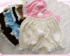 Women Girl Lolita Ruffle Shorts Bloomers Fleece Underwear Safety Pants Cute Pink