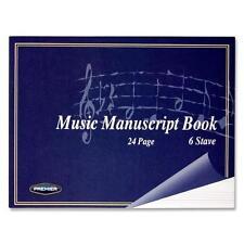 A5 musique manuscrit livre couverture souple Notbook - 24pg 6 Stave