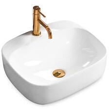 Keramik Waschtisch Waschbecken Aufsatzwaschbecken LUIZA Rea Schwarz Weiß Beige
